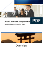 0305 Whats New With Analysis Office & OLAP