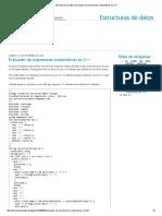 Estructuras de datos_ Evaluador de expresiones matemáticas en C++