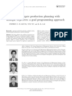 Multi-site Aggregate Production Planning With