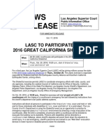 LASC Great Shaekout Press Release