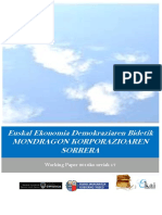 Euskal Ekonomia Demokraziaren Bidetik. MONDRAGON KORPORAZIOAREN SORRERA