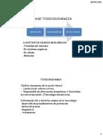 Fase Toxicodinámica