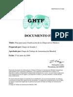 Clasificacion de Los Dispositivos Medicos Ghtf