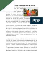 Ley Del Sistema Nacional de Evaluación Del Impacto Ambiental y Ley General de Medio Ambiente