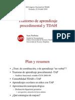 Trastorno de Aprendizaje Procedimental y TDAH.dr. Narbona_Universidad de Navarra