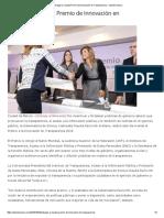 04-10-16 Entregan a Claudia premio de Innovación en Transparencia. - Opinión Sonora