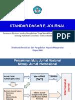 Standar Dasar E Journal Materi Pelatihan Akreditasi