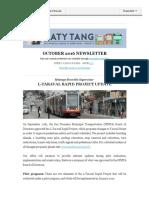 Supervisor Tang's October Newsletter