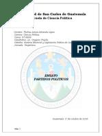 ENSAYO PARTIDOS POLITICOS