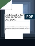 Habilidades Para La Comunicación de Las Ideas