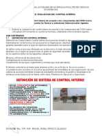 Unidad III Evaluacion Del Control Interno
