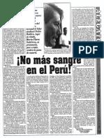 """""""No más sangre en el Perú"""""""