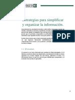 Estrategias para organizar la información