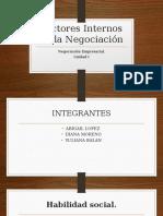 Factores Internos de La Negociación