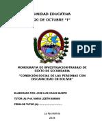"""MONOGRAFIA """"CONDICIÓN SOCIAL DE LAS PERSONAS CON DISCAPACIDAD EN BOLIVIA"""".docx"""
