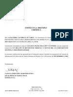 CERTIFICADO LABORAL ESTANDAR