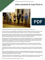 15-10-16 Inaugura Gobernadora Exposición de Jorge Marín en Musas. - Canal Sonora