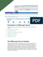 Introduction to Weblogic