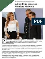 16-10-16 Gracias al Presidente Peña Nieto Sonora se recupera  Gobernadora Pavlovich. - Excélsior
