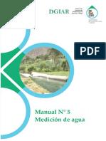 Manual N° 5 Medición de Agua