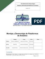 Montaje y Desmontaje de Plataformas de Andamio REV 01