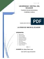 La Crisis de 1999 en El Ecuador