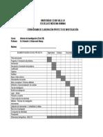 Ucv - Cronograma Avances Proy. de Investigación - 16