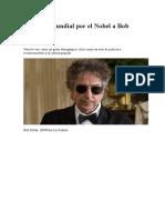 Sorpresa Mundial Por El Nobel a Bob Dylan