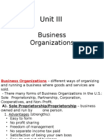 unit 3 business organizations