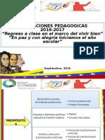 Diapositivas Orientaciones Pedagogicas 2016