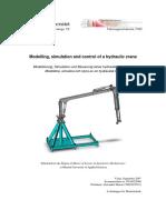 Modelling, simulation and control of a hydraulic crane