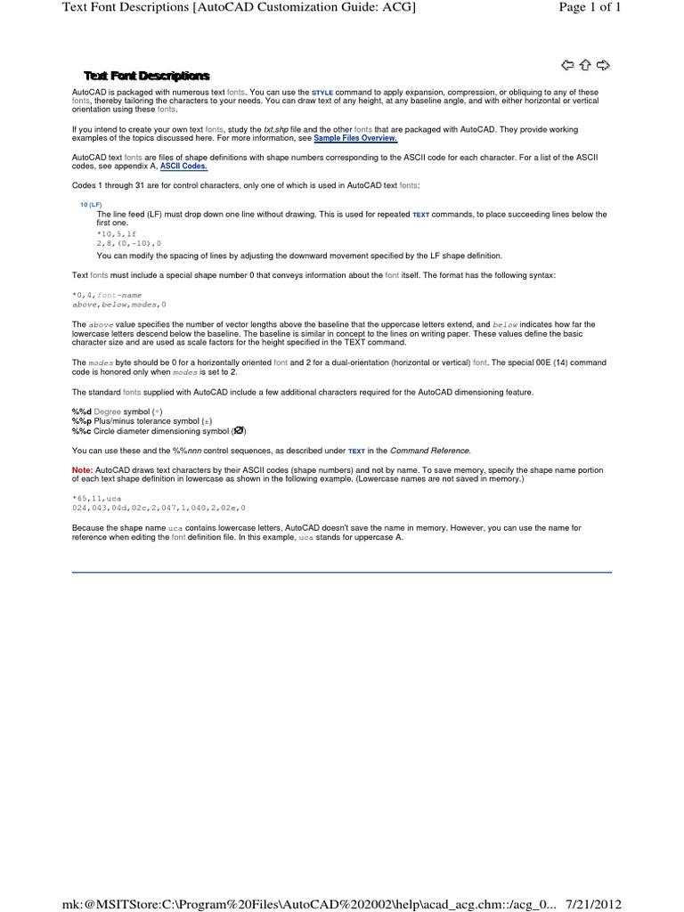 Acad degreediameter codes text typefaces ascii biocorpaavc Choice Image