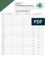 Daftar Hadir Posbindu Haji