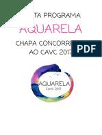 Carta Programa Aquarela