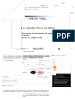 CLIVIA SANTANA DA SILVA  Doutoranda da universidade del Museo Social Argentino  Mestre em Direito - UFPa DIREITO PENAL I