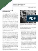 Desafíos y perspectivas del proceso de descentralización en el Perú
