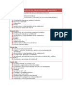 Plan de Estudios Quimica