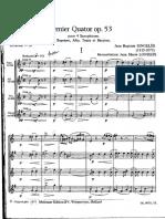 Premier Quatuor - Score