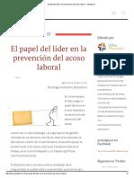 El Papel Del Líder en La Prevención Del Acoso Laboral - Actualpsico