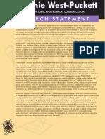 Statement of Research Program