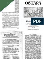 Liebenfels Joerg Lanz Von - Ostara Nr. 08 Und 09 - Theozoologie Oder Naturgeschichte Der Goetter III. (1928, 11 Doppels., Scan, Fraktur)