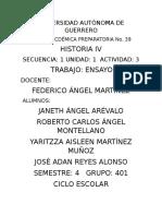 Ensayo de Secuencia Agronomatica de La Universidad Autonoma de Guerrero Numero 39 Del Estado
