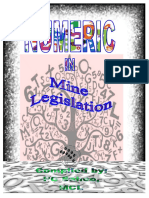 _Numeric in Mine Legislation PC Sahoo