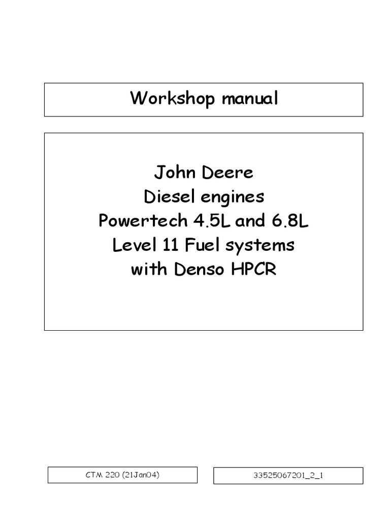 190111819 John Deere Workshop Manualpdf Internal Combustion 140 H3 Wiring Diagram Engine Biodiesel