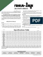 Hydra-Jar Operation Sheet