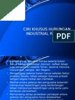 Ciri Khusus Hubungan Industrial Pancasila