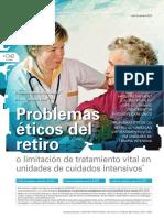 2015 Problemas Éticos Del Retiro o Limitación de Tratamiento Vital en Unidades de Cuidados Intensivos
