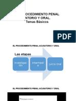 El Procedimiento Penal Acusatorio y Oral
