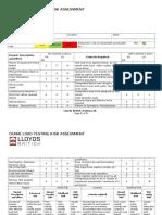 Crane Load Testing Risk Assessment