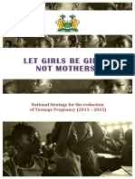 Sierra Leone National Strategy for the Reduction of Teenage Pregnancy